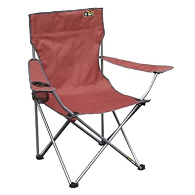 Quik Chair Folding Quad Chair with Carrying Bag (Bright Red)