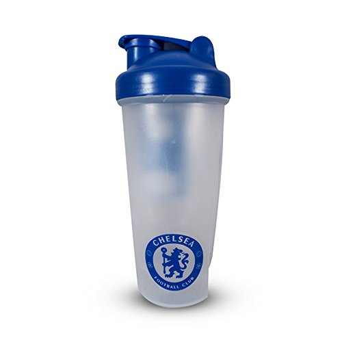 Chelsea FC Official Football/Soccer Crest Protein Shaker Bottle (One Size) (Clear/Blue)