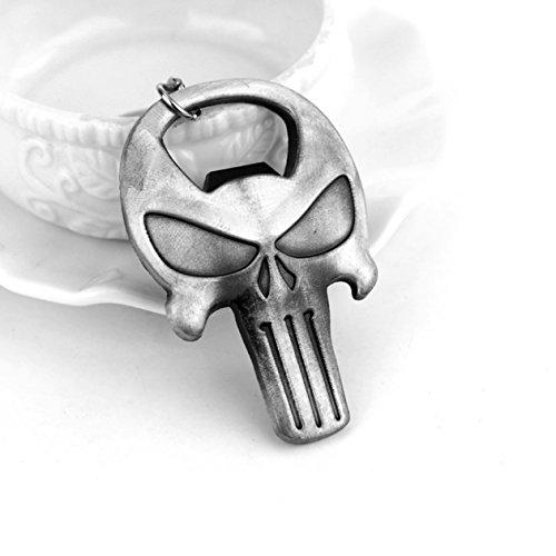 1 Pc Mini Pocket Punisher Skull Keychain Keyring Keyfob Bottle Opener Pendant Keys Chains Rings Tags Strap Wrist Exceptional Popular Cute Wristlet Utility Keyrings Tool Teen Women Girls Gift, ()
