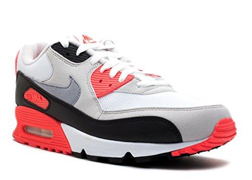 Nike Air Max 90 Infrarossi (weiss / Grau / Schwarz / Infrarot) Bianco, Cemento Grigio-infrarosso-blk