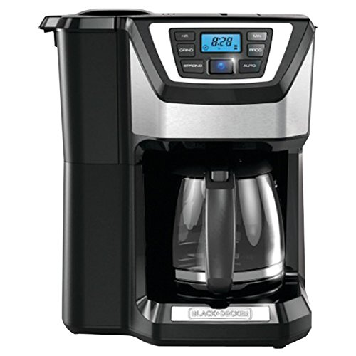Black & Decker CM5000B 12-Cup Mill and Brew Coffeemaker, Black (Coffeemaker Grind And Brew compare prices)