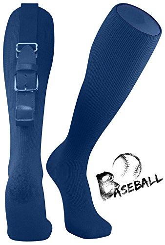 (TZOE Baseball Softball Belt Socks Combo Set Softball Socks Baseball Belt Combo Set Youth and Adult (Navy,)