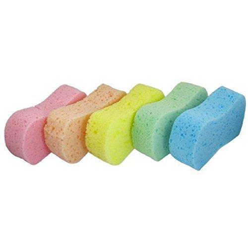 GBSTORE 5 Pcs Assorted Color Car Wash Sponge Set Bone Des...