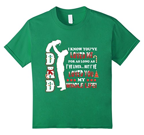Kids Meaning Gift Idea From Father. Christmas Shirt For Son. 10 Kelly Green - Father Son Costumes Ideas