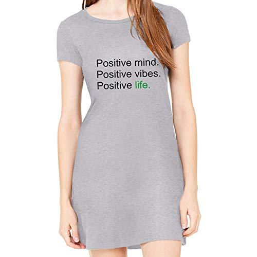 Vestido Criativa Urbana Estampado Positive Cinza Gg