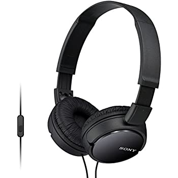 9520bf2c8b8 Sony MDR-ZX110AP Extra Bass Wired Headphones with Mic, Smartphone Headset  for iPhone & Android with in-Line Remote & Microphone, Neodymium Magnets &  30mm ...