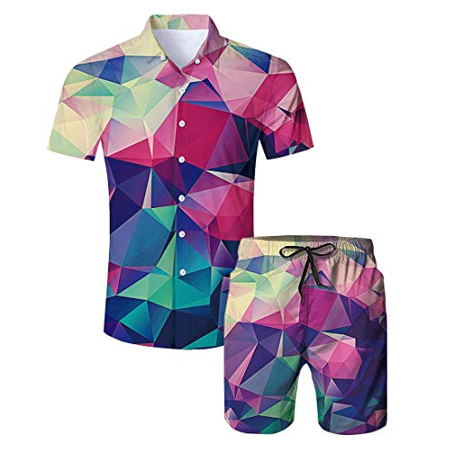 Camicia Vacanza Camicie Da Spiaggia Uomo Hawaiana 1 Aideaone Geometria PWwAUHqxff