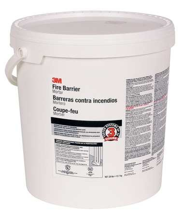 Fire Barrier Mortar, 5 gal, Off-White ()