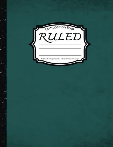 Ruled Composition :Notebook College ruled:8.5 x 11 inch,Paper 110 pages,GreenVin
