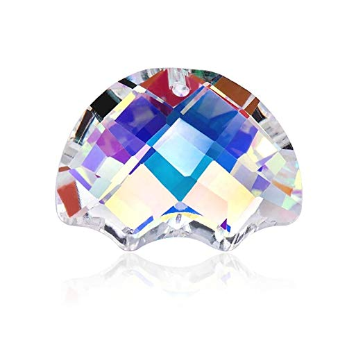 RanMory31 Glass Heart Pendant 12 Kinds of Crystal Pendant Crystal Triangle Beads Heart Shape Glass Beads for Jewelry Making Necklaces Earrings