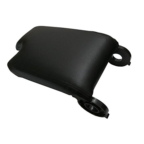 Cooldiscovery Black Leather Armrest Center Console Lid Cover Storage Box For BMW E46 1999-2004
