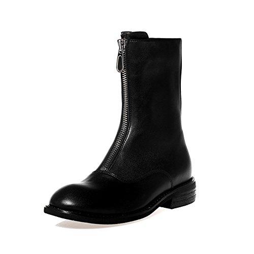 be7791f2cf5 Caliente de la venta Botas de Cuero para Mujer Zapatos de Tacón Plano  Frontzipper Martin Boots