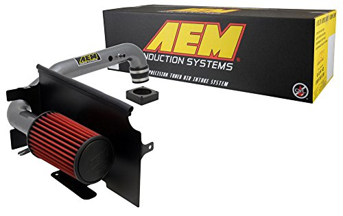 AEM 21-8311DC Brute Force Intake System with Gun Metal Tube and Red Dry Filter for Jeep Wrangler TJ 1997-2006 4.0 (Brute Force Cold Air Intake)