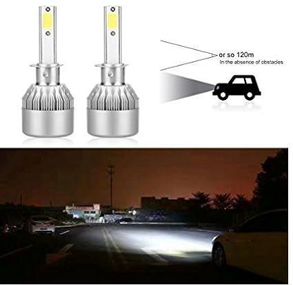 AGM LED C6 H1 Luces Delanteras del Coche (High Beam), 36W Alta Potencia LED COB Bombillas para Faros Delanteros, 2pcs/paquete: Amazon.es: Coche y moto