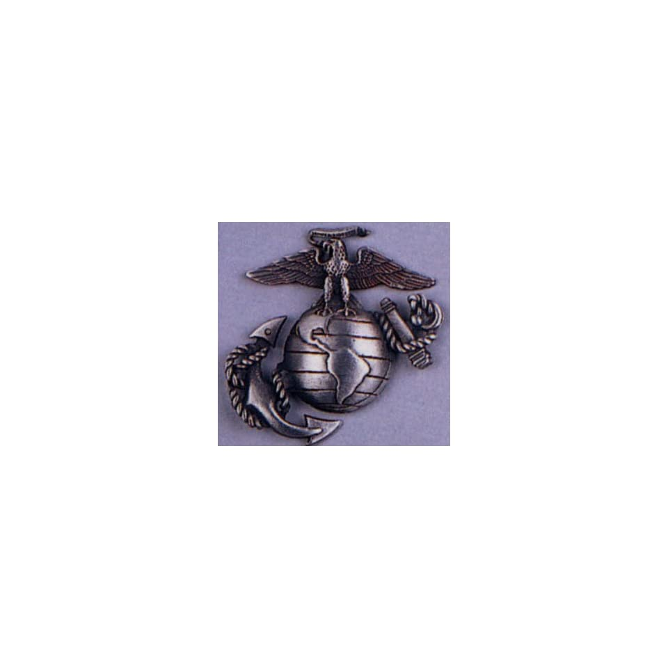 Pewter USMC Marine Corps Logo Insignia Pin