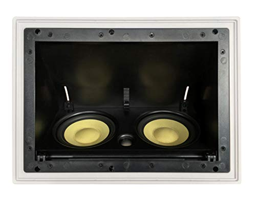 YK5252AC Silver Ticket in-Ceiling Speaker with Pivoting Full Speaker Adjustable Angle Woofers and a 1