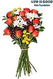 Benchmark Bouquets Life is Good Flowers Orange, No Vase (Fresh Cut Flowers)