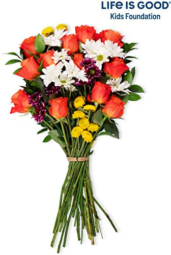 Benchmark Bouquets Life is Good Flowers Orange, No Vase (Fresh Cut Flowers)