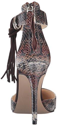 Snake Safari Dark Brown Nine Everafter Synthetic West Pump Women's Cognac Dress vaqUOfHw