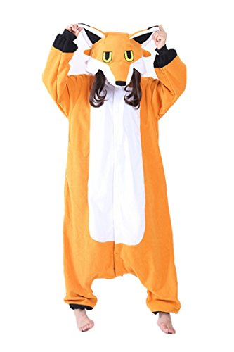 WOTOGOLD Animal Cosplay Costume New Fox Unisex Adult Pajamas Orange, Small -