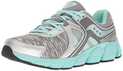 Saucony Kotaro 3 Running Shoe, Silver/Turquoise/Print, 5.5 W US Big Kid by Saucony