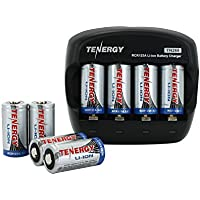 Combo: Tenergy TN268 Li-Ion Battery Charger + 8 pcs RCR123A 600mah Rechargeable Batteries