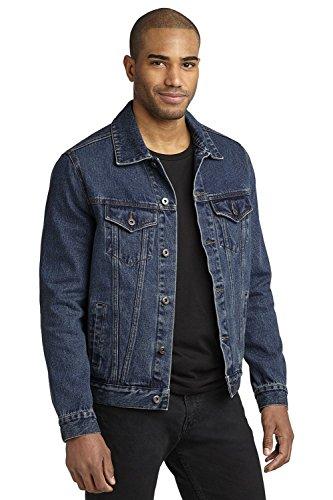(Port Authority Men's 100% stonewashed indigo Denim Jacket_Denim_Medium)