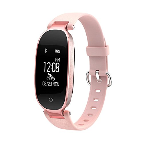 elecfan Fitness Tracker with Heart Rate, Bluetooth Waterproof Smart Watch with Sleep Monitor Fashion Design for Women Ladies Wristband for Samsung Galaxy Note 9/8/S9 & iPhone X/7/8 Plus, Rose ()