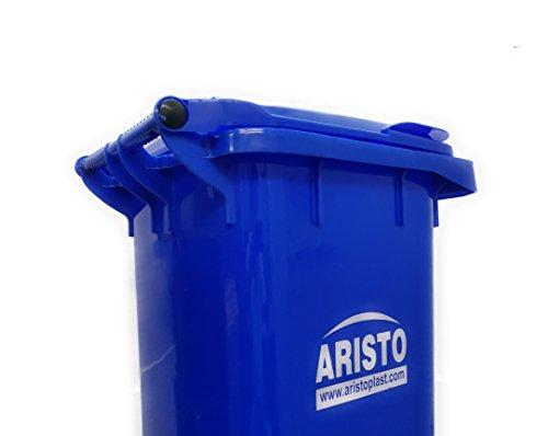 Aristo Wheel Garbage Waste Dustbin 120 Ltr (Blue) 6