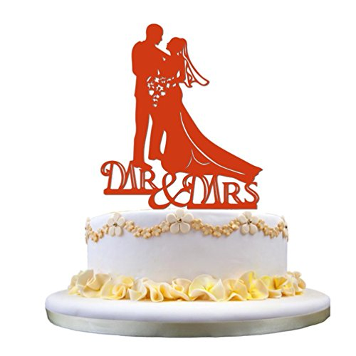 Acrylic Wedding Cake Topper Insert Card Cake Decoration Party (Acrylic Embosser)