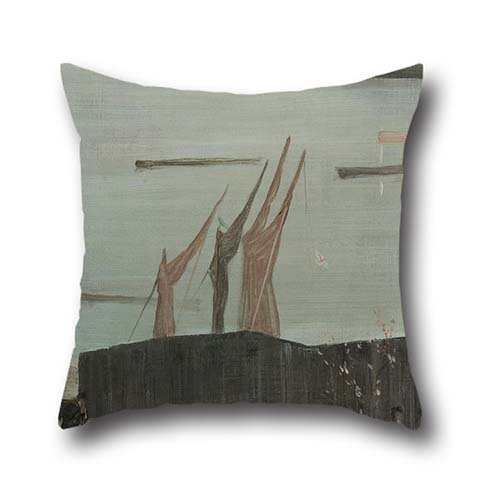18 X 18 Inches / 45 By 45 Cm Oil Painting James McNeill Whistler - Variations In Pink And Grey- Chelsea Pillow Cases ,two Sides Ornament And Gift To Study Room,home,living Room,drawing Room,teens