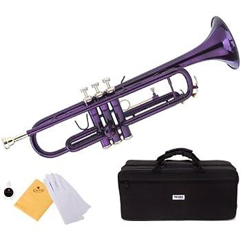 Amazon.com: Mendini Brass Bb - Trompeta + afinador, funda ...