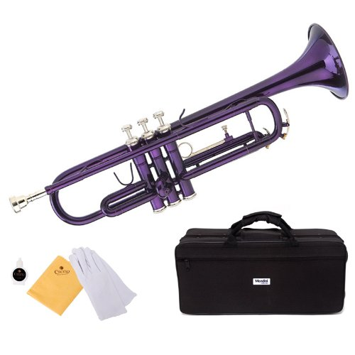 trompeta púrpura Mendini con funda y accesorios (xmp)