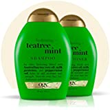 Organix: Tea Tree Mint Hydrating Shampoo + Conditioner, 13 oz Combo Pack