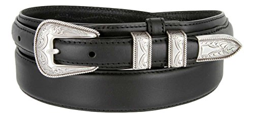 Oil Tanned Ranger Leather Belt With Silver Plated Western Buckle