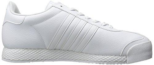 b72d4ce30b91a adidas Originals Men's Samoa Retro Sneaker,White/White/Gold,11 M US -  FrenzyStyle