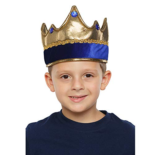 Dress Up America Kids' Little Exquisite Blue Crown, One Size Fits Mone Sizet -