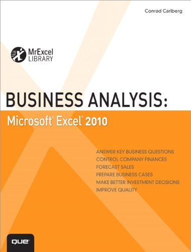 Download Business Analysis: Microsoft Excel 2010 (MrExcel Library) Pdf