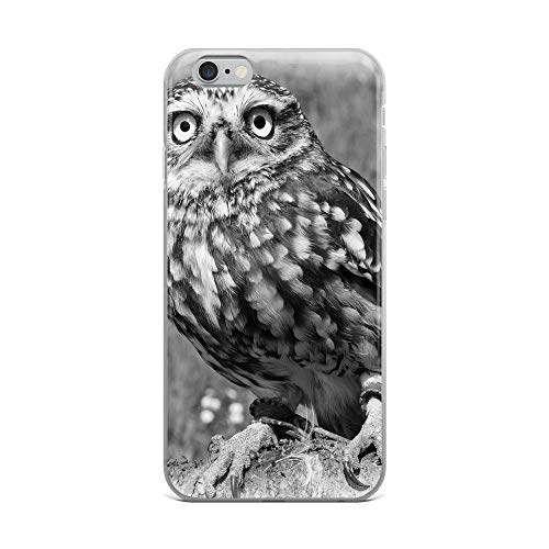 iPhone 6 Plus/6s Plus Case Anti-Scratch Creature Animal Transparent Cases Cover Little Owl Suffolk UK Animals Fauna Crystal Clear