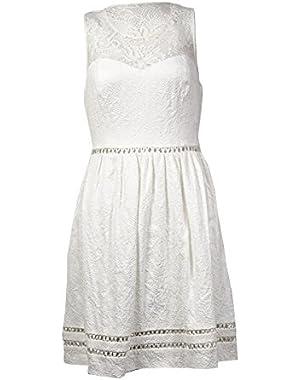 Guess Women's 'Mara' Illusion Jacquard A-Line Dress
