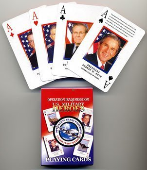 Operation Iraqi Freedom U.S. Military Heroes Playing Cards by Select by Select