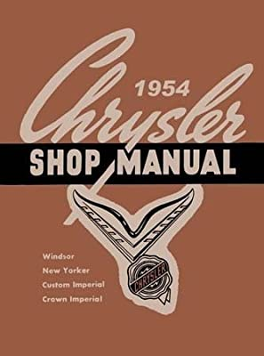amazon com: factory shop - service manual for 1954 chrysler & imperial:  everything else