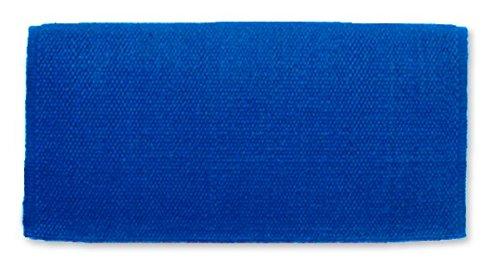 Mayatex San Juan Solid Saddle Blanket, Royal Blue, 36 x 34-Inch (Blanket Horse Blue Navy)