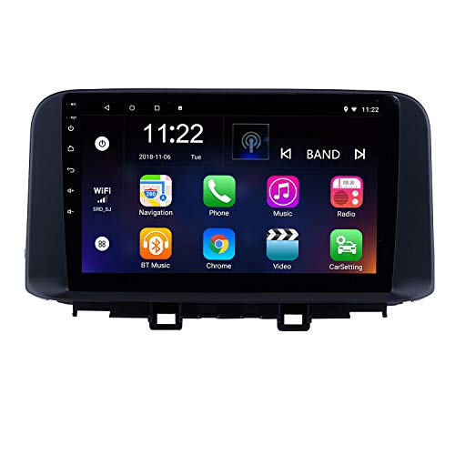 Harfey H6125K Android 8.1 Bluetooth Car Radio 10.1 inch HD Touch Screen Head Unit for 2018 2019 Hyundai Encino Kona Stereo Upgrade GPS Navigation Support 3G WiFi Digital TV Rearview - Unit Kona Big