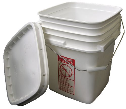 Vestil-PAIL-SQ-35-W-Square-Plastic-Pail-with-Snap-Lid-and-Handle-35-gallon-Capacity-White-Case-of-240