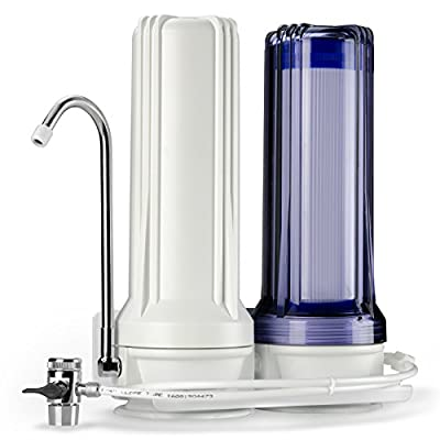 iSpring CKC2 High Output Multi-Stage Countertop Filter - Includes Activated Carbon and Carbon Block Filters