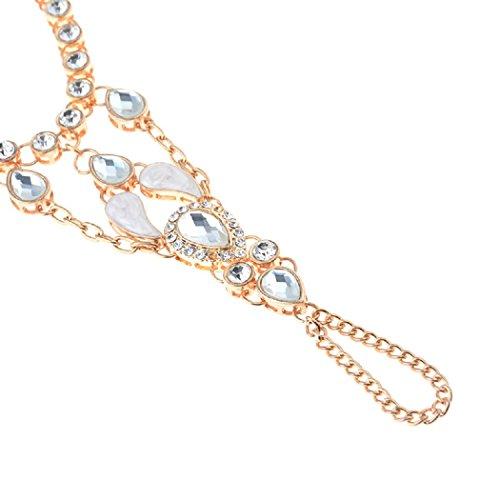 Buy hand chain bracelet gold