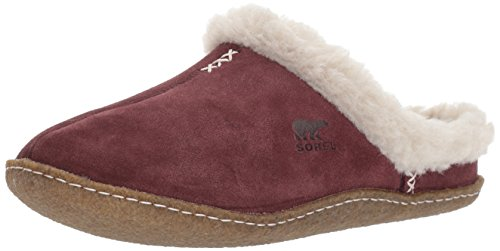 Sorel Women's Nakiska Slide Slipper, Redwood, Dark Stone, 6 B US