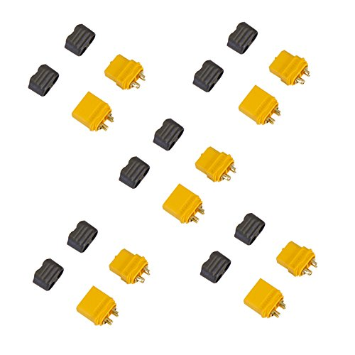 - Amass XT60+ Male and Female Connector Plug Set for Battery, ESC, and Charge Lead 5 Pairs
