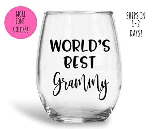 187dcb1b208 World's best grammy, Grammy wine glass, Grammy gift, personalized wine glass,  Grandma gift, Grammy cup, Grandma wine glass, custom wine glasses, ...